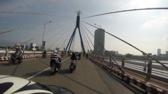 We crossed by so many bridges.