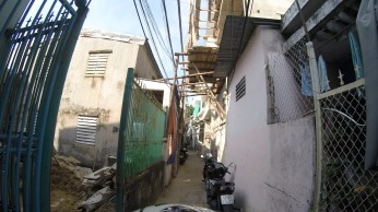 This is the alley that my family's house is located on.