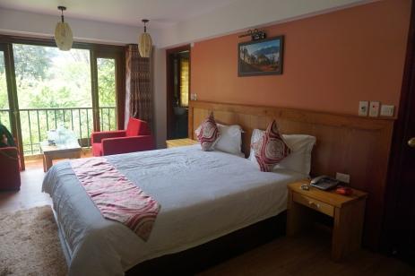 Sapa Elite Hotel's King size bed, plenty room for 2.