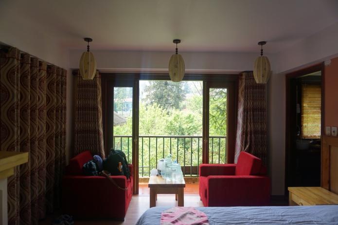 Sapa Elite Hotel's Rest area & balcony.
